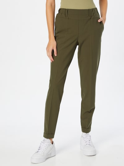 Kaffe Pleated Pants 'Nanci Jillian' in Khaki, View model