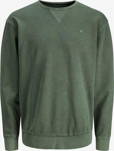 JACK & JONES Sweatshirt 'JJEWASHED' in dunkelgrün: Frontalansicht