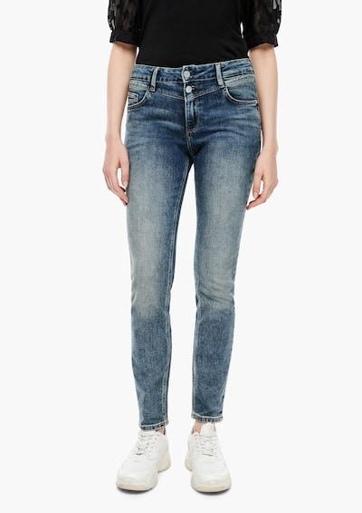 Q/S designed by Jeans in de kleur Blauw denim, Modelweergave