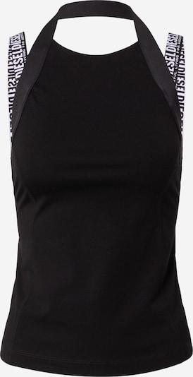DIESEL Топ 'ELAN' в черно / бяло: Изглед отпред