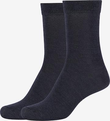 camano Socks 'ca-soft Wool' in Blue