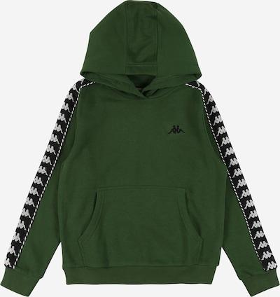 KAPPA Sweatshirt 'IGON' in hellgrau / dunkelgrün / schwarz, Produktansicht