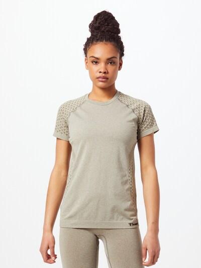 Hummel Sporta krekls, krāsa - haki: Priekšējais skats