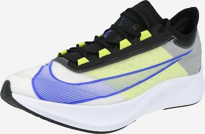 NIKE Bežecká obuv 'ZOOM FLY 3' - modrá / neónovo žltá / svetlosivá / čierna, Produkt