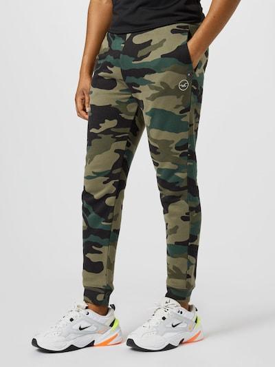 HOLLISTER Spodnie w kolorze khaki / oliwkowy / benzyna / czarnym, Podgląd na modelu(-ce)