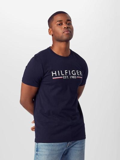 Marškinėliai iš TOMMY HILFIGER , spalva - tamsiai mėlyna / raudona / balta: Vaizdas iš priekio