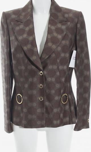 Prestige Elegance Long-Blazer in M in creme / braun, Produktansicht