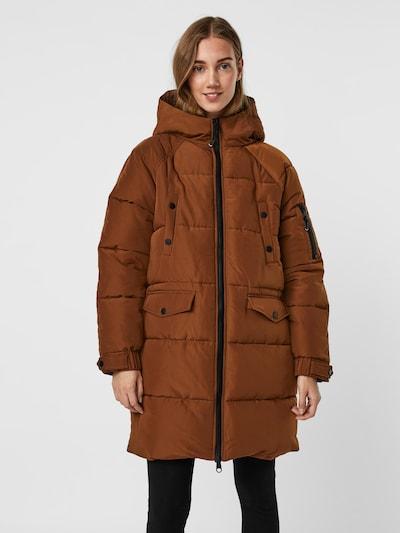 VERO MODA Mantel 'Eloise' en marron, Vue avec modèle