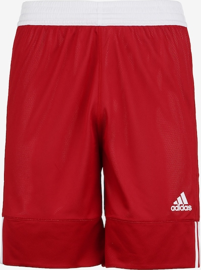 ADIDAS PERFORMANCE Basketballshorts in rot / weiß, Produktansicht