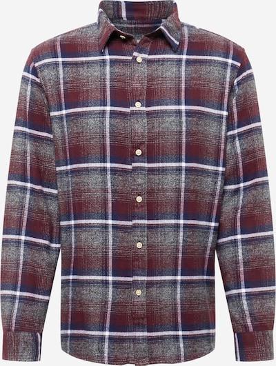 SELECTED HOMME Hemd 'Regtrade' in dunkelblau / grau / dunkelrot / weiß, Produktansicht