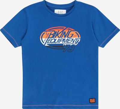 STACCATO T-Shirt in blau / koralle / hellorange / schwarz / weiß, Produktansicht