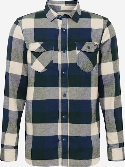 VANS Button Up Shirt in Cream / Navy / Dark green, Item view