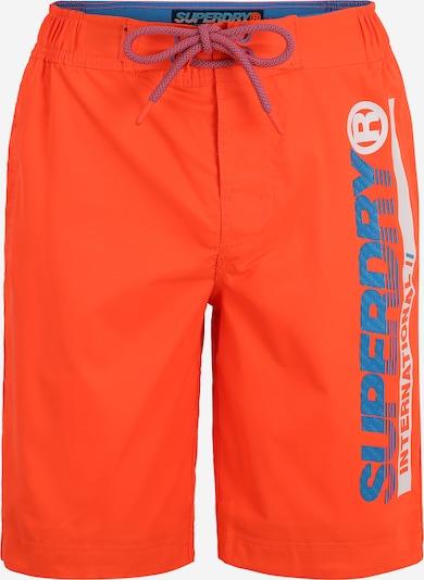 Superdry Plavecké šortky - modrá / oranžová / biela, Produkt