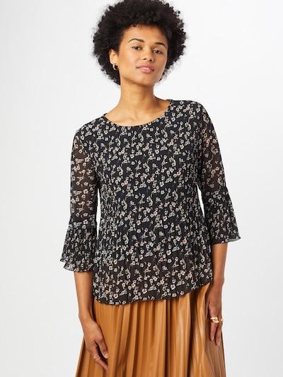 ZABAIONE Blouse 'Tala' in de kleur Olijfgroen / Zwart / Wit, Modelweergave