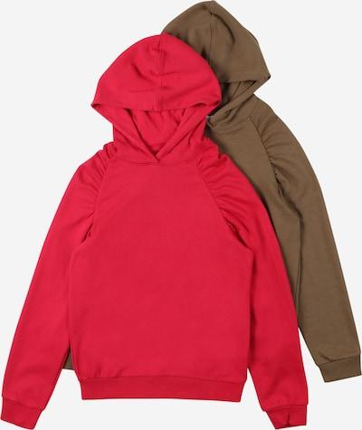 NAME IT Sportisks džemperis 'VENUS', krāsa - haki / sarkans, Preces skats