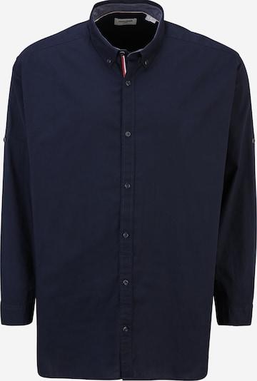 Jack & Jones Plus Hemd 'JUSTIN' in navy, Produktansicht