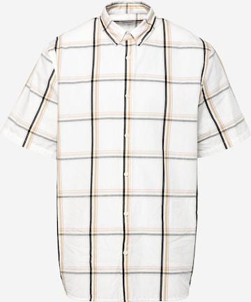 WEEKDAY Button Up Shirt 'Dameer' in Beige