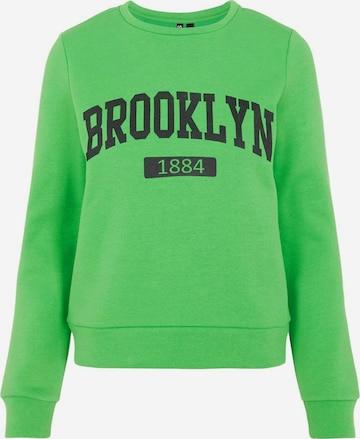 PIECES Sweatshirt in Grün