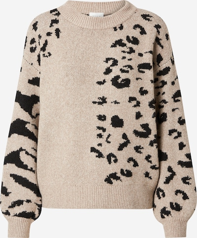 VILA Pullover 'Alia' in beige / schwarz, Produktansicht