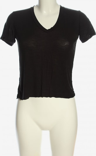 Brandy Melville V-Ausschnitt-Shirt in XS-XL in schwarz, Produktansicht