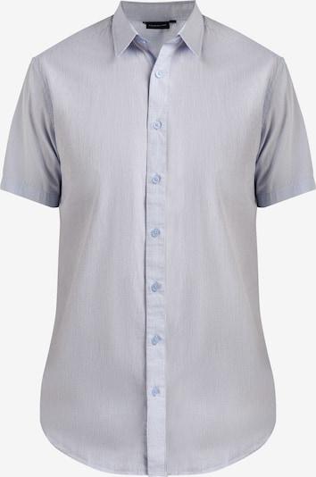 Finn Flare Kurzarmhemd mit feinem Karo-Muster in blau, Produktansicht