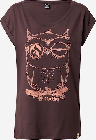Iriedaily Shirt 'Skateowl 2' in Brown