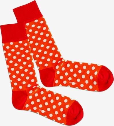 DillySocks Ponožky 'Whiteout' - červená / svetločervená / biela, Produkt