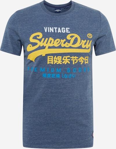 Superdry Shirt in de kleur Blauw / Blauw gemêleerd / Geel / Wit, Productweergave