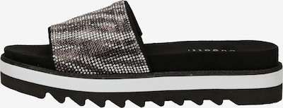 bugatti Pantoletten in schwarz / weiß, Produktansicht
