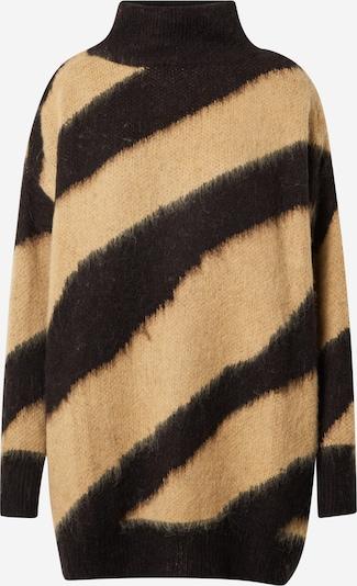 SOAKED IN LUXURY Pullover 'Feline' in beige / schwarz, Produktansicht