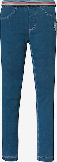 JETTE BY STACCATO Jeanshose in blue denim / neongelb / grün / pink, Produktansicht