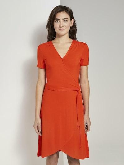 TOM TAILOR Kleid in orangerot, Modelansicht