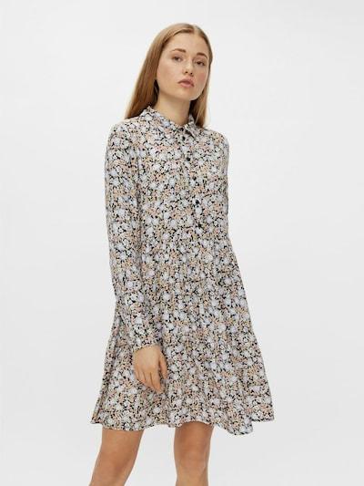 PIECES Kleid in hellblau / hellgelb / mischfarben, Modelansicht