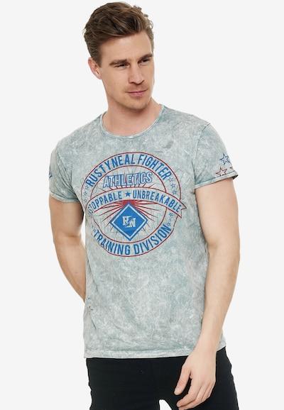Rusty Neal T-Shirt mit großem Frontprint in grau: Frontalansicht
