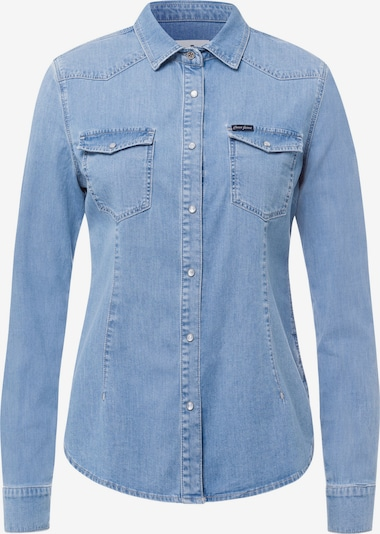 Cross Jeans Bluse in blau, Produktansicht
