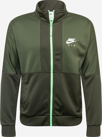 Nike Sportswear Sweatjacke in oliv / dunkelgrün / weiß, Produktansicht