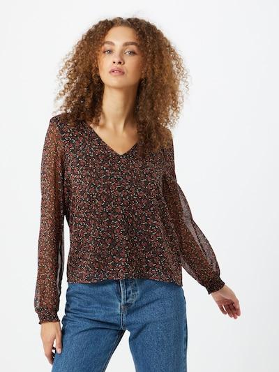 ONLY Bluse 'YVONNA' in mint / rosé / schwarz / weiß, Modelansicht