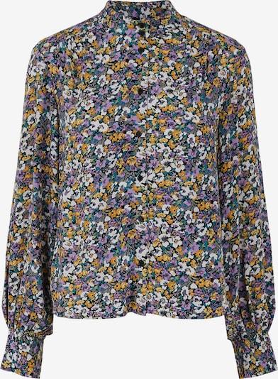Y.A.S Bluse 'Plicca' in blau / gelb / lila / schwarz / weiß, Produktansicht