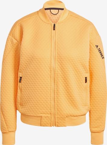 adidas Terrex Athletic Fleece Jacket in Orange
