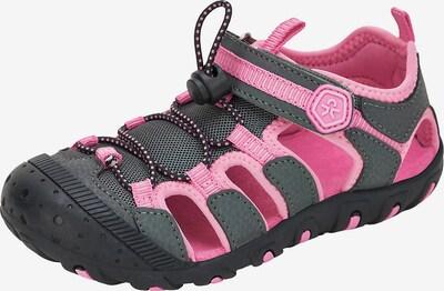 COLOR KIDS Sandale in graphit / pink / schwarz, Produktansicht