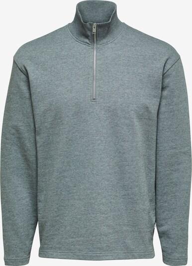 SELECTED HOMME Sweat-shirt en gris chiné, Vue avec produit