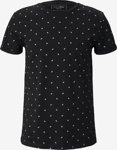 TOM TAILOR DENIM Tričko - čierna / biela, Produkt