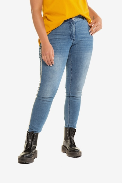Studio Untold Skinny-Jeans in blue denim, Modelansicht