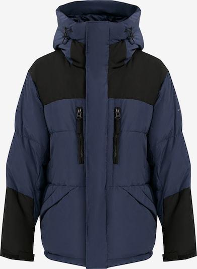 Finn Flare Daunenmantel in dunkelblau / schwarz, Produktansicht