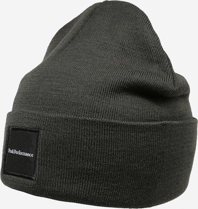 PEAK PERFORMANCE Sportmütze in dunkelgrün / schwarz / weiß, Produktansicht