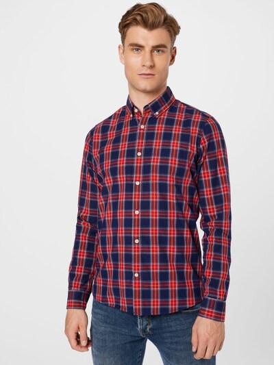 GAP Hemd in dunkelblau / gelb / rot / weiß: Frontalansicht