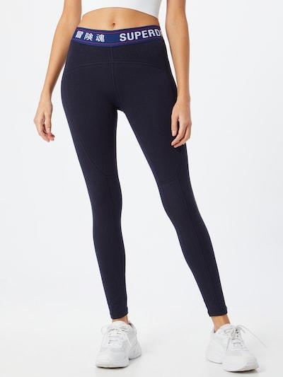 Superdry Leggings in blau / navy / rot / weiß, Modelansicht