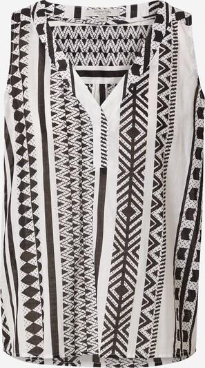 comma casual identity Bluse in schwarz / weiß, Produktansicht