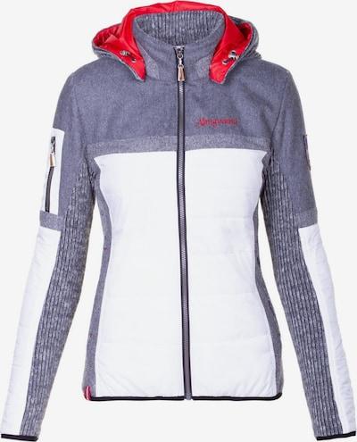 Almgwand Jacke 'Nordspitze' in grau / rot / weiß, Produktansicht