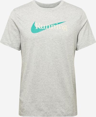 NIKE Camiseta funcional en turquesa / gris claro / blanco, Vista del producto